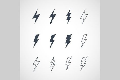 Vector Lightning Icon Set - Icons