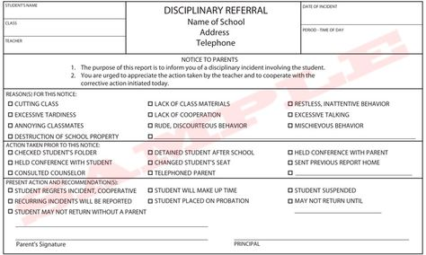 school disciplinary form - Google Search School Forms - basketball evaluation form
