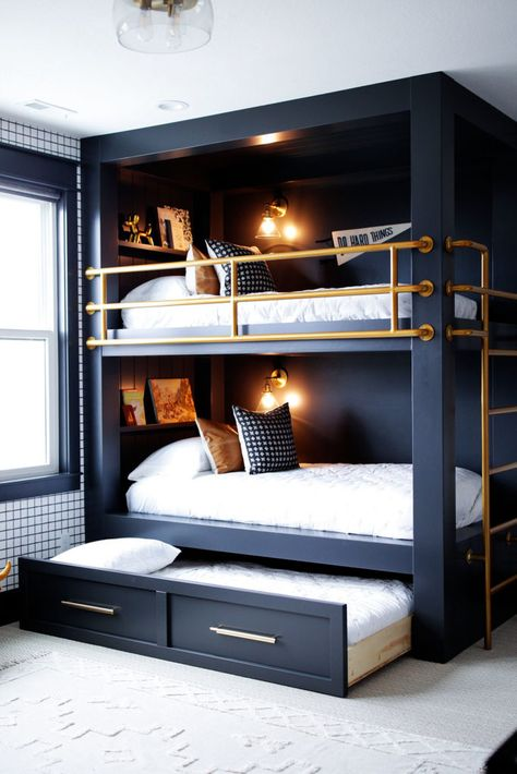 Home, House Rooms, Home Bedroom, Bedroom Design, Home Room Design, New Homes, House, Bunk Bed Rooms, Room Design