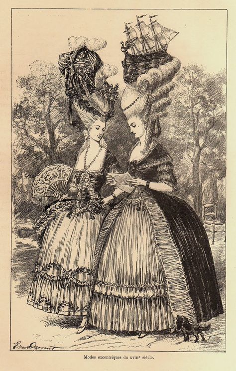 An early twentieth century illustration (circa 1920) of how people  envisioned the fashions of 5d946d64288