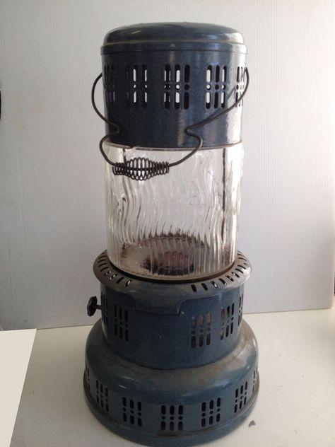 Vintage Perfection Glass Globe Kerosene Heater Stove Home