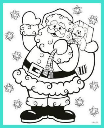 Printable Blank Santa Claus And Reindeer Coloring Pages Happy