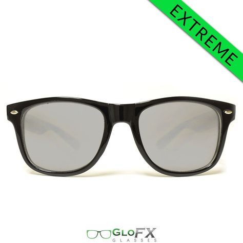 ee3b5b726141d GloFX Ultimate EXTREME Diffraction Glasses – Black Tinted