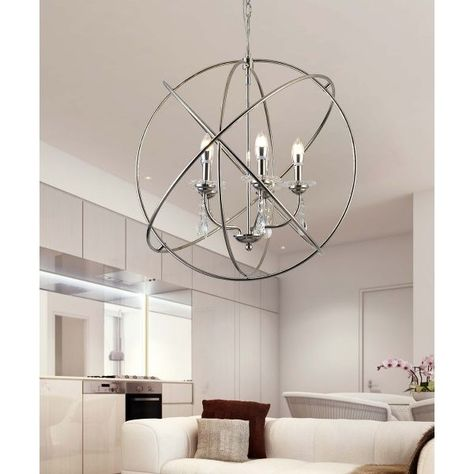 5-Light Modern Design Decorative Ball Style Chandelier Lamp by Ola Living