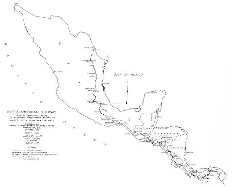 pan american highway central america map - Google Search | Pan ...
