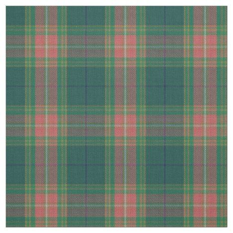 Clan Gallagher Irish Tartan Plaid Fabric in 2019 | Fabric