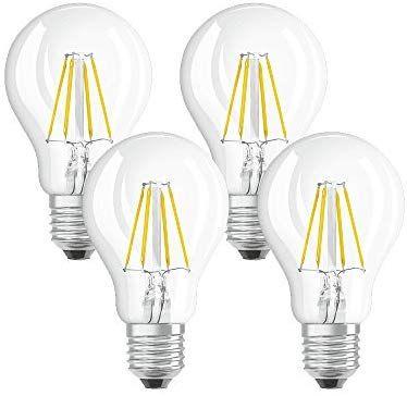 Osram Lampada Led E27 4 W 10 5 X 6 X 6 Cm 4 Unita Amazon It Illuminazione Lampada Led Lampade Led