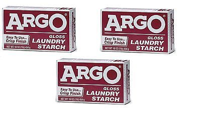 Fabric Softeners 172212 Argo Laundry Starch 3 Boxes 1lb Each Play