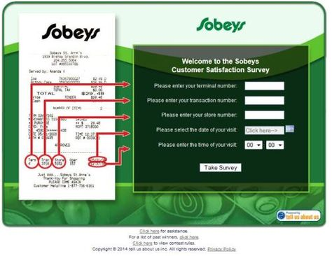 Sobeys Customer Satisfaction Survey WwwYourfeedbackTo