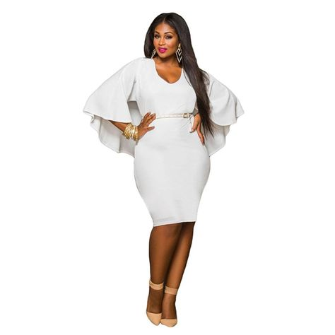 a6700245b5d Perman Women Sexy Bodycon Plus Size Batwing Sleeve Mini Party Cocktail Dress     Unbelievable item right here!   Plus size dresses