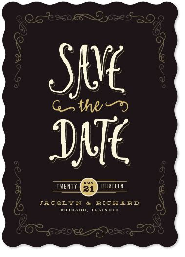save the date cards - butterscotch
