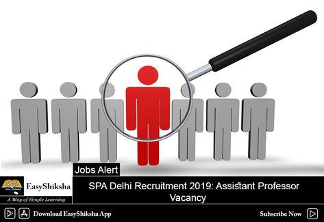Spa Delhi Recruitment 2019 Assistant Professor Vacancy Apply