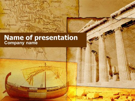Classic Ancient Greece Powerpoint Template Background Powerpoint Powerpoint Background Design Powerpoint Templates