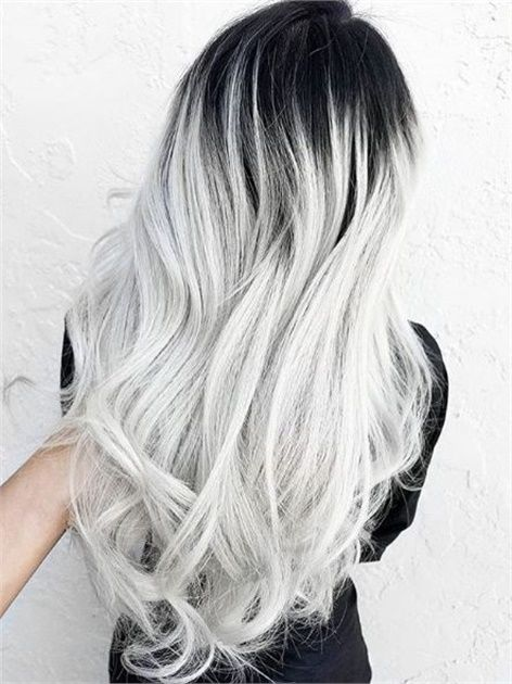 These 25 Silver And Platinum Looks Will Have You On Cloud Nine Hair Styles Grey Ombre Hair Pretty Gray Hair