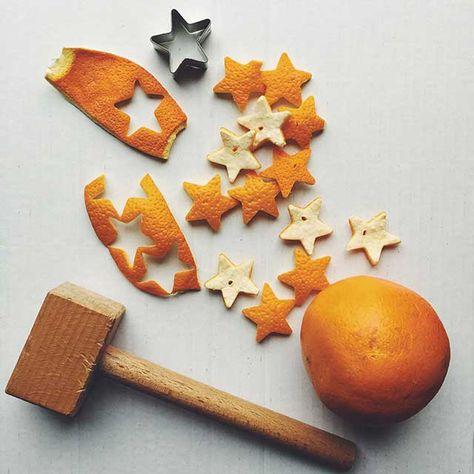 no waste-Orange Peel Decor // Decoración con piel de naranja #citrus #orange #decor