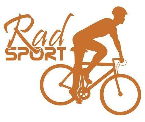 Radsport,Cyclist Wall Sticker East Urban Home Colour: Brilliant blue, Size: 110 cm H x 139 cm W