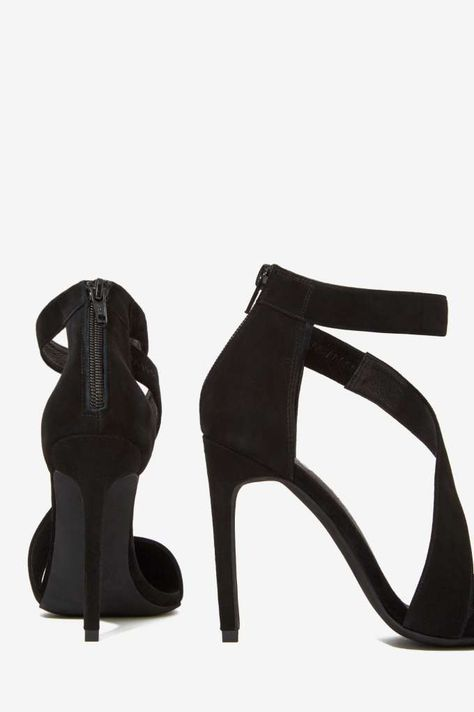 check out c1267 c6f06 Jeffrey Campbell Septiva Suede Heel - Pumps | Jeffrey ...