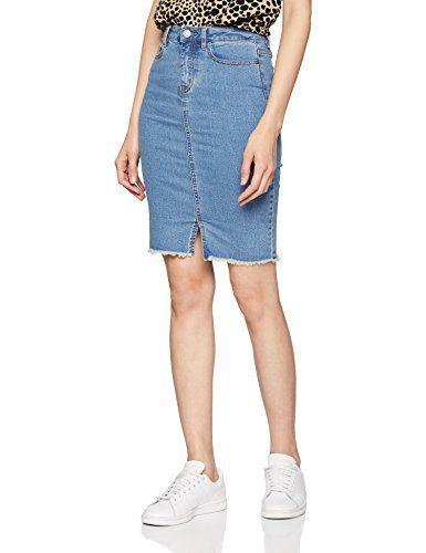 Noisy May Nmbe Lexi HW MB Pencil Denim Skirt Noos Gonna Donna
