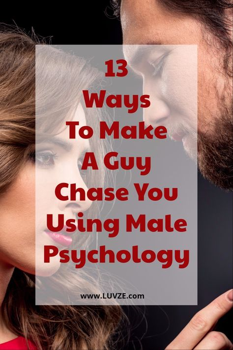 Learn how to make a guy chase you using male psychology. Here are expert tricks and advice on how to lure him in and get him chase you.