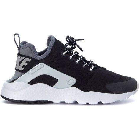 low priced f08ac 506be Sneaker Nike Air Huarache Ultra Se in Tessuto Nero E Grigio ( 130) ❤ liked  on Polyvore featuring shoes, sneakers, multicolor, multi colored sneakers,  ...