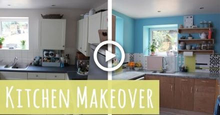 Plywood Kitchen Budget Makeover With B Q Plywood Kitchen Kitchen Design Diy Countertop Makeover