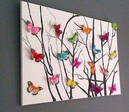 Diy Paper Butterflies Decoration 16 Ideas Butterfly Crafts Butterfly Art Crafts