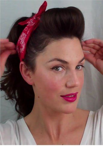 The New Vintage Style With These Inspiring 50s Hairstyles Easy Vintage Hairstyles Hair Styles Up Hairstyles