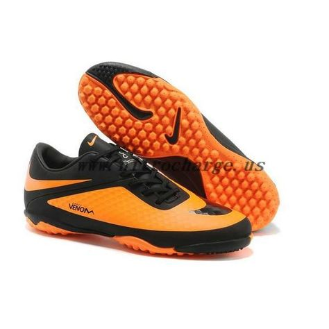 ba07bcd34996 Neymar Nike Hypervenom Phelon ACC Turf Shoes Black Citrus