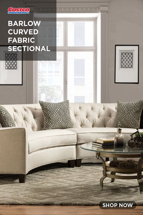 Awesome Barlow Curved Fabric Sectional In 2019 Fabric Sectional Machost Co Dining Chair Design Ideas Machostcouk