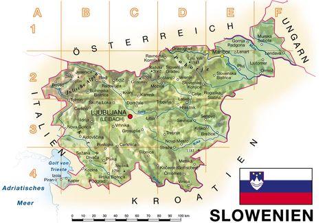 Slowenien Karte Auf Slowenien Reisefuhrer Reisefuhrer Slowenien