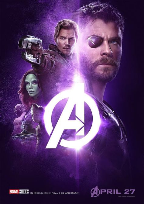 Avengers Infinity War Thor Guardian of the Galaxy Marvel Artwork poster