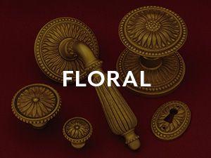 P E Guerin Door Hardware Louis Xvi Floral In 2020 Brass Door