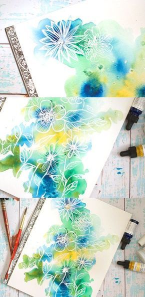 Easy Abstract Watercolor Florals Tutorial Watercolor Paintings