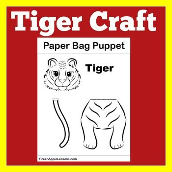 Cool Tiger Craft Template Paper Bag Puppets Printable Tiger Home Interior And Landscaping Analalmasignezvosmurscom