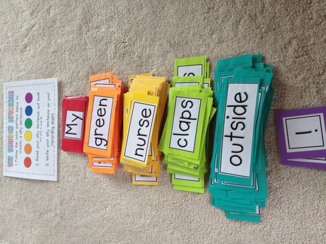 Silly sentence project complete! -for a word work station