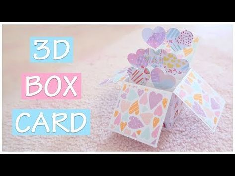 Diy 3d Pop Up Box Card Explosion Box Scrapbook Idea Youtube Pop Up Box Cards Card Box Box Cards Tutorial