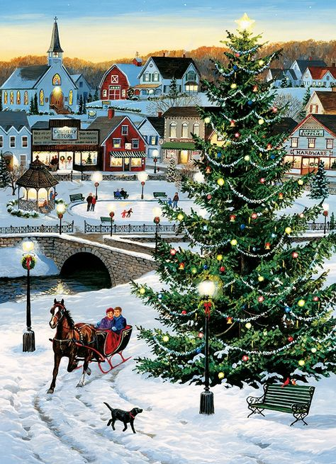 1000pc Village Tree jigsaw puzzle | 80141 | Cobble Hill Puzzle Co