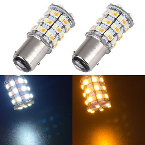 New 2pcs 12v 1157 Bay15d 3157 7443 3528 60 Smd Dual Color Yellow White Switchback Car Turn Signal Brake Led Light Bu With Images Light Bulb Lamp Led Light Bulb Light Bulb