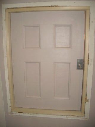 Project Coraline Build An Attic Door W Skeleton Lock Attic Doors Attic Wall Closet