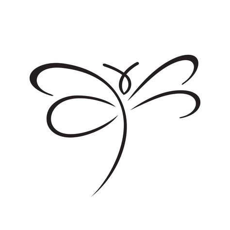Gifts for birth, baptism, wedding & more from Geschenkelibelle - I offer a discount! Cute Tattoos, Body Art Tattoos, Small Tattoos, I Tattoo, Tatoos, Doodle Drawings, Easy Drawings, Doodle Art, Small Dragonfly Tattoo