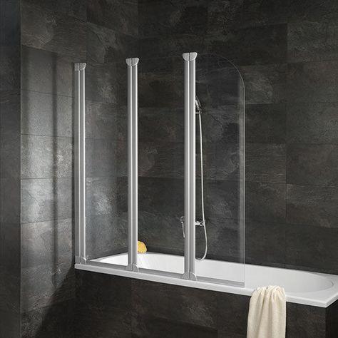Schulte Faltwand Duschwand Badewannenaufsatz