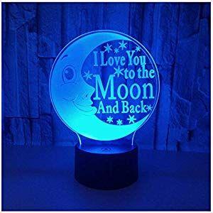Nachtlicht Nachttischlampe Kreative Mond 3d Augenpflege Nachtlicht Kinderspielzeug Licht Dekoration Licht Beleuchtung Leuchtmittel Le Nachttischlampe Nachtlicht Und Nachtleuchte