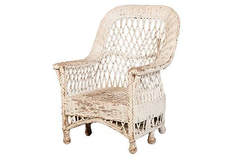 Bethany Chair Chippy Wicker Not Practical But Beautiful White Wicker Chair