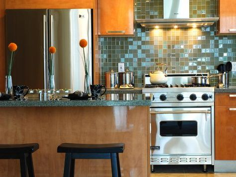 5 Tricks to Make Your Kitchen Look and Feel Bigger: Choose Sleek Appliances!  There are many high-efficiency appliances that allow people with small kitchens to have the same luxuries as those with large kitchens.