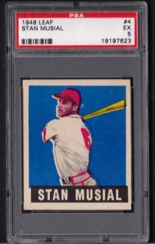 1948 Leaf 4 Stan Musial St Louis Cardinals Rookie Ex Psa 5