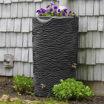 Rain Wizard 50 Gallon Rain Barrel In 2020 Rain Barrel Rain Water Collection System Rain Water Collection