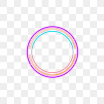 Purple Blue Yellow Colorful Neon Border Decorative Elements Frame Light Round Png Transparent Clipart Image And Psd File For Free Download Blue And Purple Abstract Iphone Wallpaper Blue Yellow