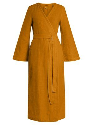 wholesale dealer 5ca7c 455ce Bell-sleeved linen robe | Once Milano | MATCHESFASHION.COM ...