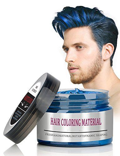 Bmk Blue Color Hair Wax Matte Hairstyle Pomades Disposable Temporary Modeling Natural Hair Styling Wax For Pa Mens Hair Colour Mens Hairstyles Party Hairstyles