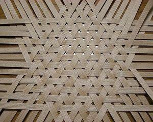 ヘギ板網代の製作現場 職人 木曽 製作
